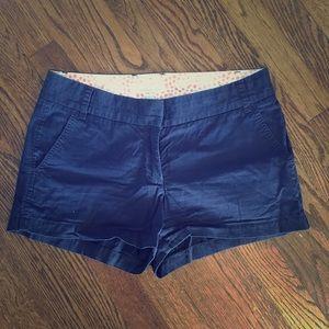 J. Crew Navy Blue Cotton Chino Shorts Size 6